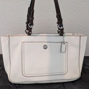 Coach White Satchel (Never Used)